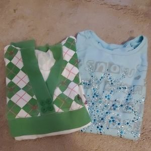 2 girls Justice size 16 long tops